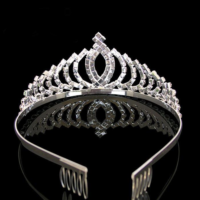 Squisita splendente strass Bridal Bridal Corona Tiara Diamante Diamante Stone Headwear Gioielli Bridal Tiaras Accessori capelli Regalo di nozze Vendita calda