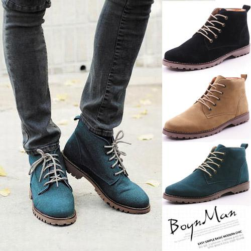 Men'S Classic Mid Top Nubuck Leather Ankle Boots Casual Desert ...