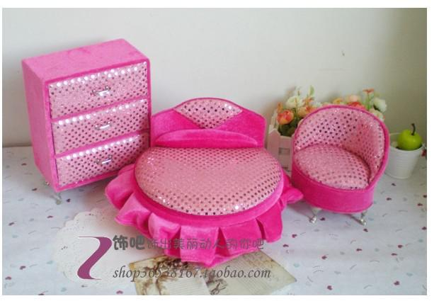 Decorate Jewelry Box Prepossessing 2018 Pink Sequin Velvet Sofa Jewelry Box Set Of Three Ornaments Design Decoration
