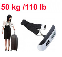 Wholesale Digital Kg - 50 kg  110 lb LCD Digital Hanging Lage Weight Hook Scale free shipping wholesale