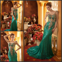 Wholesale Dress Evening Squins - Luxury Rhinestone Beaded V-neck Lace Squins Mermaid Evening Dresses Prom Dresses Beading 2017 Formal Party Gowns HK132 HK132