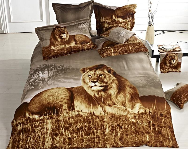 Lion Pattern Queen/Full Bedding Sets 100% Cotton Qulit