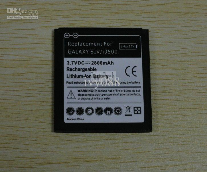 2800mAh Galaxy S 4 IV I9500 Batterie pour Samsung Galaxy S4 S IV I9500 L720 I737 I545 Batteries /