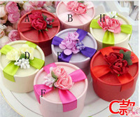 Wholesale Blue Favour Box - Free Shipping Best Selling 50Pcs Lot 8 Style Wedding Favour Boxes Big Size Candy Boxes In Stock