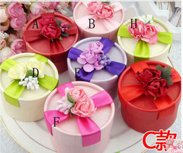 Wholesale Ivory Paper Box - Free Shipping Best Selling 50Pcs Lot 8 Style Wedding Favour Boxes Big Size Candy Boxes In Stock