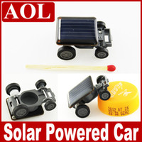 Wholesale Solar Energy Birthday Gifts - Worlds Smallest Solar Power Racing Car DIY Educational Mini solar energy toys Christmas Birthday gift