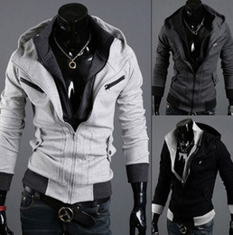 Assassins Creed New Hoodie Pas Cher-NOUVEAU Assassin's Creed desmond miles Style cosplay capuche