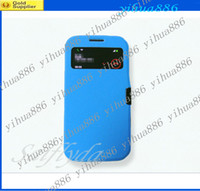 Wholesale Galaxy S4 Flip Retail - high qualiyt Flip Leather Case Cover for Samsung Galaxy S4 i9500 with Retail Package