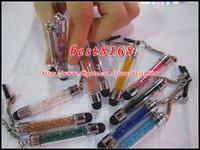 Wholesale Pens Headphones - Min capative Stylus Pen Glitter bling Dust plug Cap Earphone Headphone for Iphone 7 Plus 6 6S 5 5s SE Samsung galaxy note 5 4 S7 S6 S5 20pcs