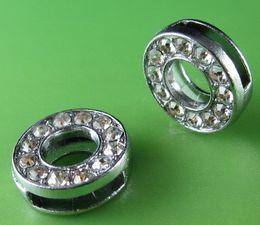 "Wholesale Alloy Letter O - 20PCS ""O"" Full Rhinestone 10MM Slide Letters SL041 Fit DIY Wristbnad   Bracelet LSSL02-O*20"
