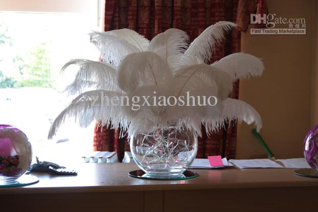 Prefect white ostrich feather plumes inch for