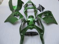 satış sonrası kawasaki ninja fairings toptan satış-1 set tüm yeşil 00 01 ZX 9R Ninja ZX9R 2000 2001 motosiklet ABS satış sonrası vücut kaporta