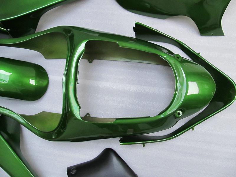 alle grün für 00 01 ZX 9R Ninja ZX9R 2000 2001 Motorrad ABS Aftermarket Karosserieverkleidung
