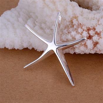 2017 venta caliente señora / chica chapado en plata 925 de la estrella de la suerte collar de la señora pendientes set de joyería de moda establece estrellas de mar