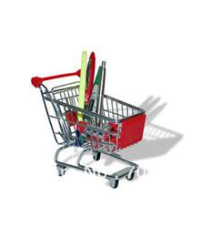 Wholesale Mini Home Storage - Pen holder Home Storage Box Mini Supermarket Shopping Handcart trolley