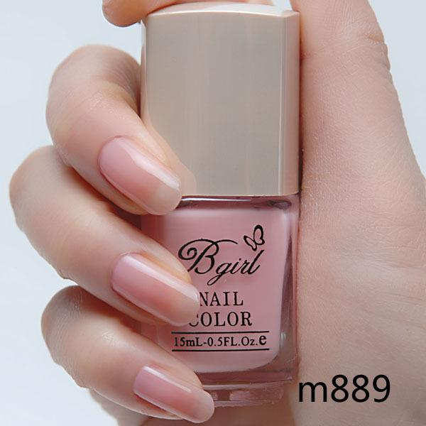 2 Bottle Bgirl Nail Polish Oil Matt Light Pink Nail Art New Arrival ...