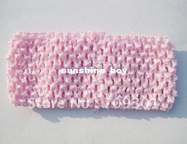 "Free Shipping! 3"" Crochet Baby Headbands Stretchy Headband Hair Accessories Hair Band(Mixed colors)"