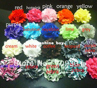 "Wholesale Wholesale Tulle Satin Mesh Flower - 2"" Tulle Flowers 19Colors Mini Satin Mesh Flowers Without HairClips Charlotte Tulle Puff Flower 200p"