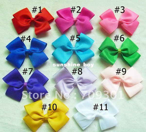 "4.3"" Large Hair Bows Ribbon Bows Headbands Accessory 11 Colors U Pick 60 Pcs Free Shipping"