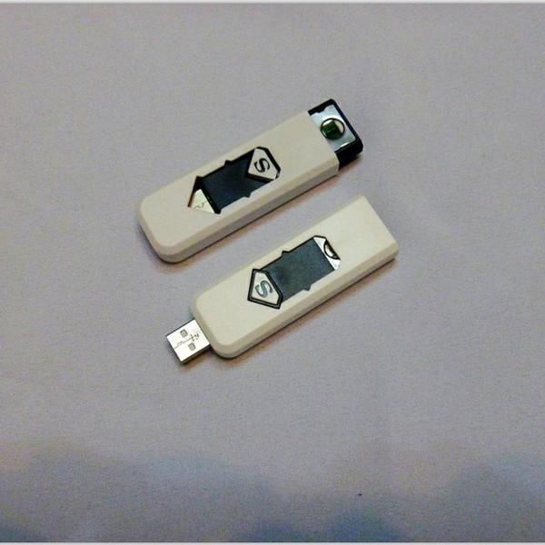 2015 nueva moda USB recargable Reutilizable encendedor eléctrico sin llama encendedor 10 unids / lote envío gratis