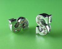 "Wholesale Rhinestone Letter S Charm - 20PCS ""S"" Half Rhinestone 8MM Slide Letters SL097 Fit DIY Wristbnad   Bracelet LSSL04-S*20"