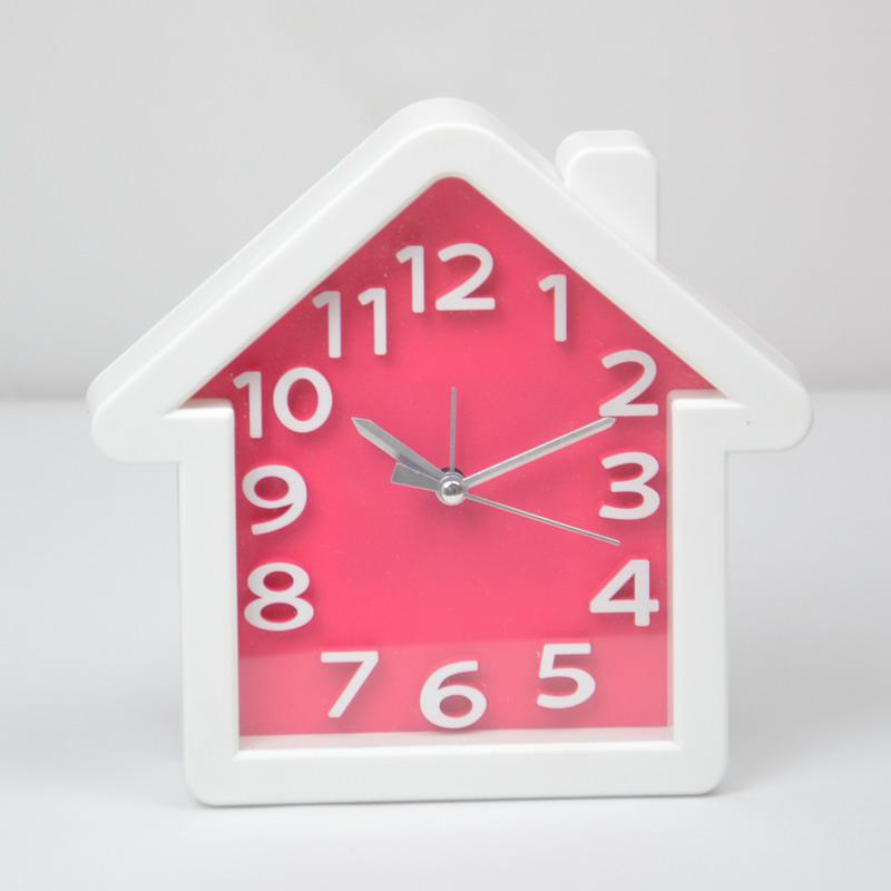 Creative kids apple house wall clock alarm table clock round square gifts cheap wall clocks for - Unique alarm clocks for teenagers ...