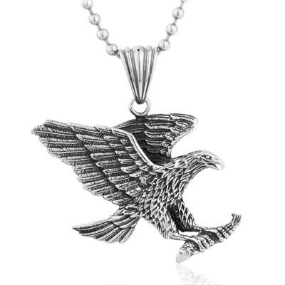 Wholesale large eagle pendant necklace 316l stainless steel jewelry wholesale large eagle pendant necklace 316l stainless steel jewelry heavy men necklaces new bf gifts tga2066 necklace pendants garnet pendant necklace from aloadofball Choice Image