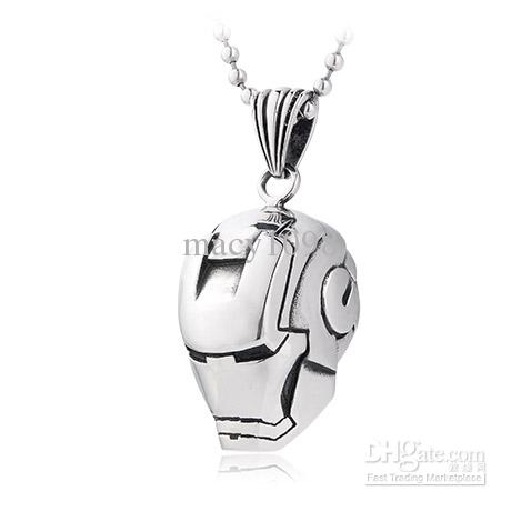 Wholesale 2013 iron man pendant necklace 316l stainless steel see larger image aloadofball Choice Image