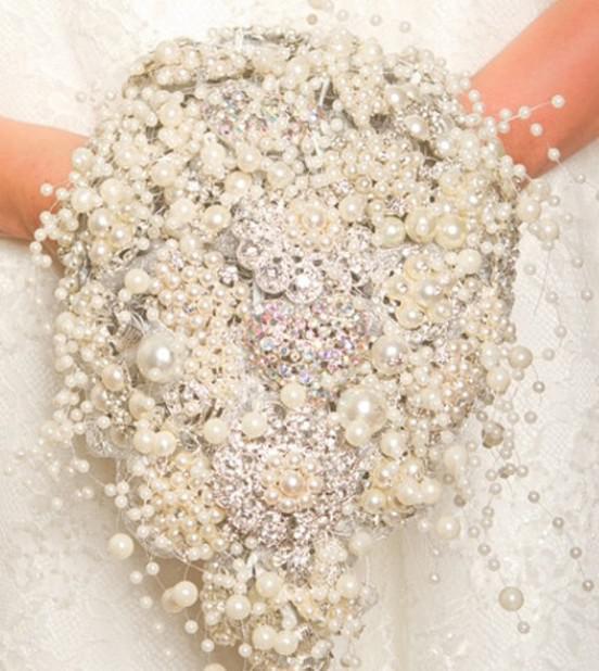 8mm3mm Rosa caldo / Bianco / Avorio Perle perline Decorazione centrotavola matrimonio garland FAI DA TE