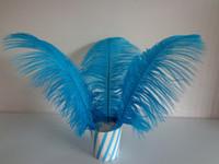 Wholesale turquoise decor resale online - inch cm Turquoise Ostrich Feather Plume table centerpiece ebent suplply party festive decor