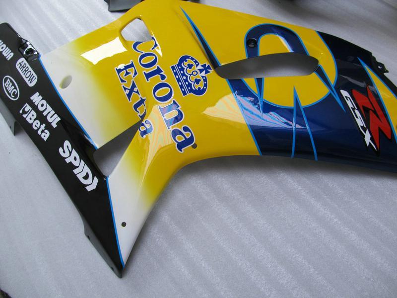Gele Corona Backings Kit voor Suzuki GSXR 600 750 K1 GSXR600 GSXR750 01 02 03 R600 R750 2001 2002 2003 Motorfietsen