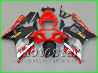 Wholesale gsxr fairing red black silver - Red black silver fairing kit FOR GSXR 600 750 2004 2005 K4 GSXR600 GSXR750 04 05 R600 R750 bodywork