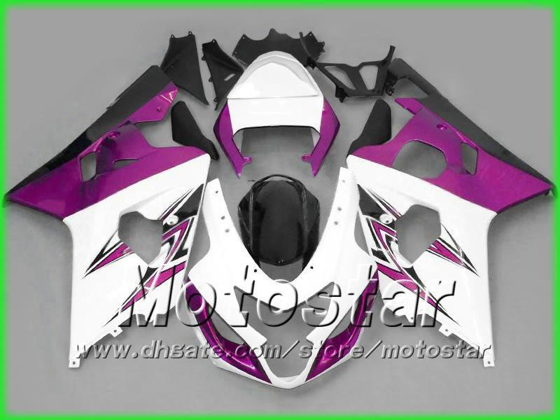 purple white fairing kit bodywork for SUZUKI fairings GSXR 600 750 K4 2004 2005 GSXR600 GSXR750 04-05 R600 R750