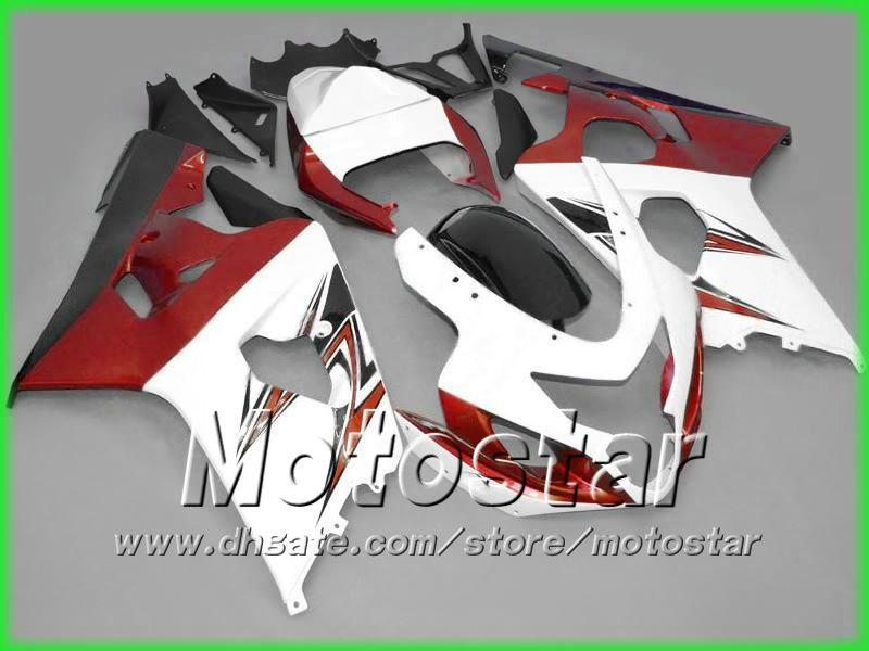 Gorący sprzedaż Gearing Coradwork Kit dla Suzuki GSXR 600 750 K4 2004 2005 GSXR600 GSXR750 04-05 R600 R750 Owalnia