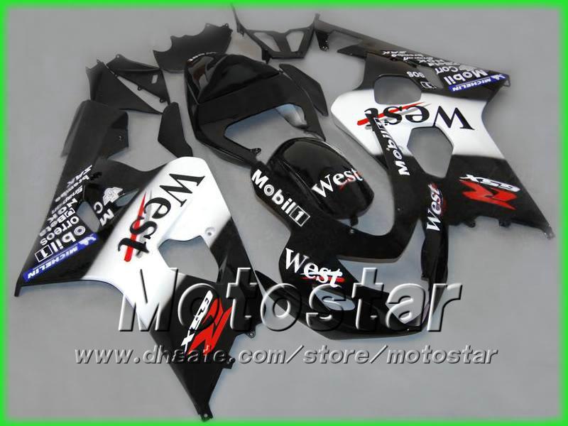 West ABS Carrosserie Kit voor Suzuki GSXR 600 750 K4 2004 2005 GSXR600 GSXR750 04-05 R600 R750