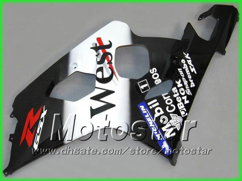 West ABS Bodywork Fairing Kit för Suzuki GSXR 600 750 K4 2004 2005 GSXR600 GSXR750 04-05 R600 R750