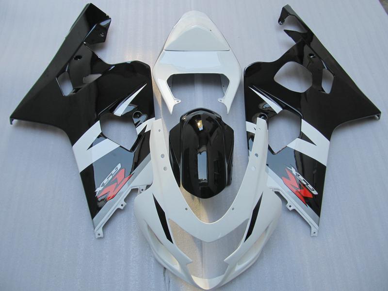 5 Geschenken Zwart Wit Volledige Fairing Kit voor Suzuki GSXR 600 750 K4 2004 2005 GSXR600 GSXR750 04 05 R600 R750 2004-2005
