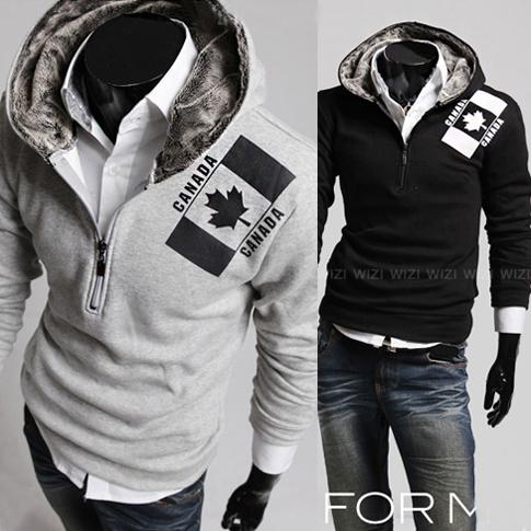 2017 Maple Leaf Hoodies For Men 2013 Korean Style Men Fashion ...