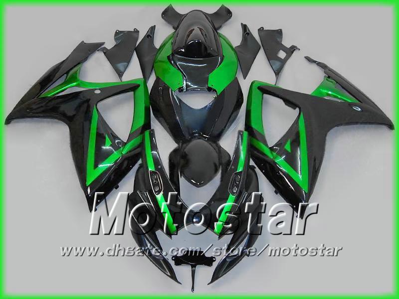 Zwart GROENE MOTORFIETSBIERINGEN VOOR SUZUKI 2006 2007 GSXR 600 750 K6 GSXR600 GSXR750 06 07 R600 R750 2006-2007 VOLLEDIGE KEERKIT
