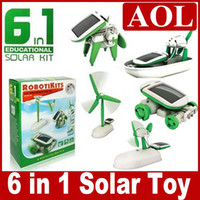 Wholesale Educational Solar Kit Robotikits Toy - Hot Sale Polythene 6 in 1 DIY Educational Solar Powered Manual Assemble Kits Robotikits Puzzle Toy