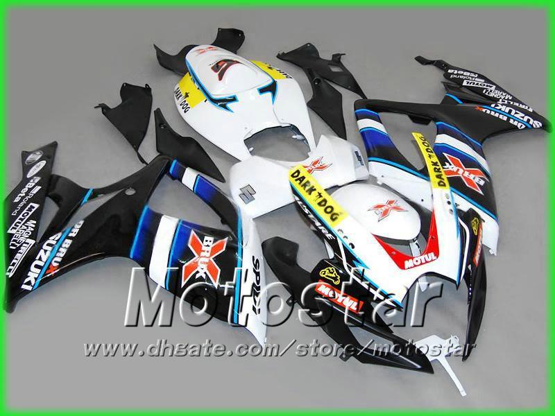 BRUX Bodywork injeciton fairing kit FOR 2006 2007 GSXR 600 750 K6 GSXR600 GSXR750 06 07 R600 R750