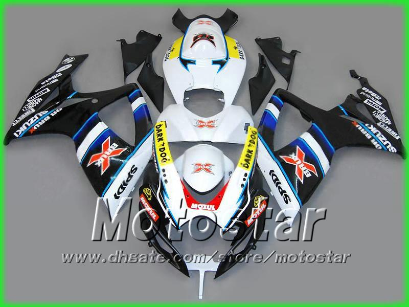 Brux Bodywork Injeciton Fairing Kit för 2006 2007 GSXR 600 750 K6 GSXR600 GSXR750 06 07 R600 R750
