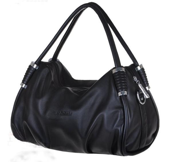 de00bd72ac9e Ladies Black Leather Handbags - Mc Luggage