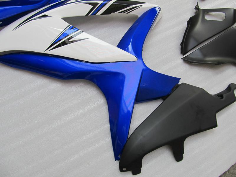 5 Geschenken Blauw Wit Custom Backings voor Suzuki GSXR 600 750 2009 2009 K8 GSXR600 GSXR750 08 09 10 GSX-R750 GSX-R600 KIT
