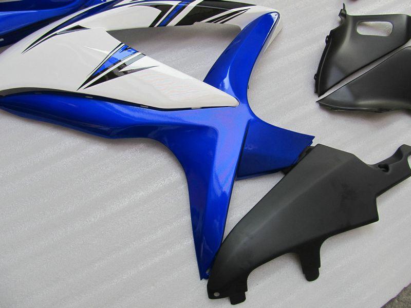 5ギフトブルーホワイトカスタムフェアリゾートのための鈴木GSXR 600 750 2008 2009 K8 GSXR600 GSXR750 08 09 10 GSX-R750 GSX-R600キット