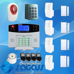 Wholesale Alarm System Remote Keypad - Auto-Dial Security Guard Wireless Intelligent Mobile Call GSM Alarm System With Wired Siren & Wireless Remote Keypad Listen in On Site