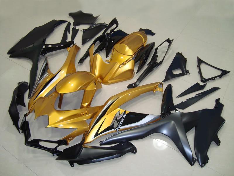 Gold Black ABS Zestaw dochodowy dla Suzuki GSXR 600 750 2008 2009 2010 8 GSXR600 GSXR750 08 09 10 GSX-R750 GSX-R600 Więcej