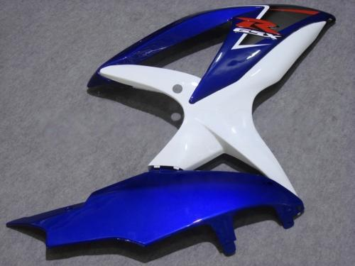 スズキGSXR 600用ホワイトブルーABSフェアリングキット600 2008 2009 K8 GSXR600 GSXR750 08 09 10 GSX-R750 GSX-R600オートバイフェアリングセット