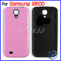 Wholesale S4 Carbon Cover - Battery Back Door Cover Replacement for Samsung Galaxy S4 i9500 Carbon Fiber Pattern
