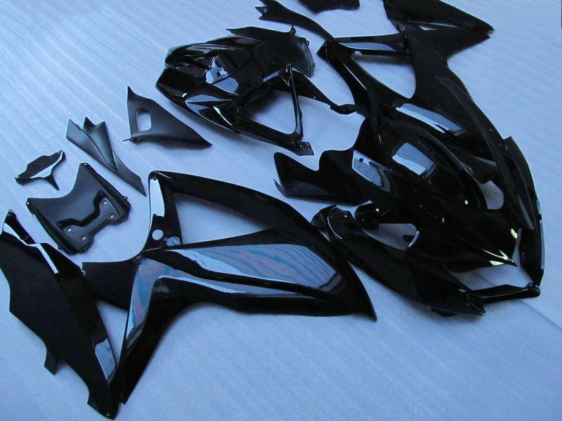 Custom All Glossy Black Carrosserieblokkachel voor Suzuki GSXR 600 750 2009 2009 K8 GSXR600 GSXR750 08 09 10 GSX-R750 FUNDINGS KIT